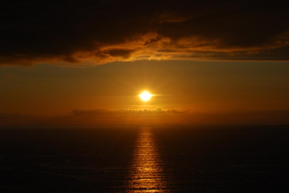 puesta de sol en lobeiras