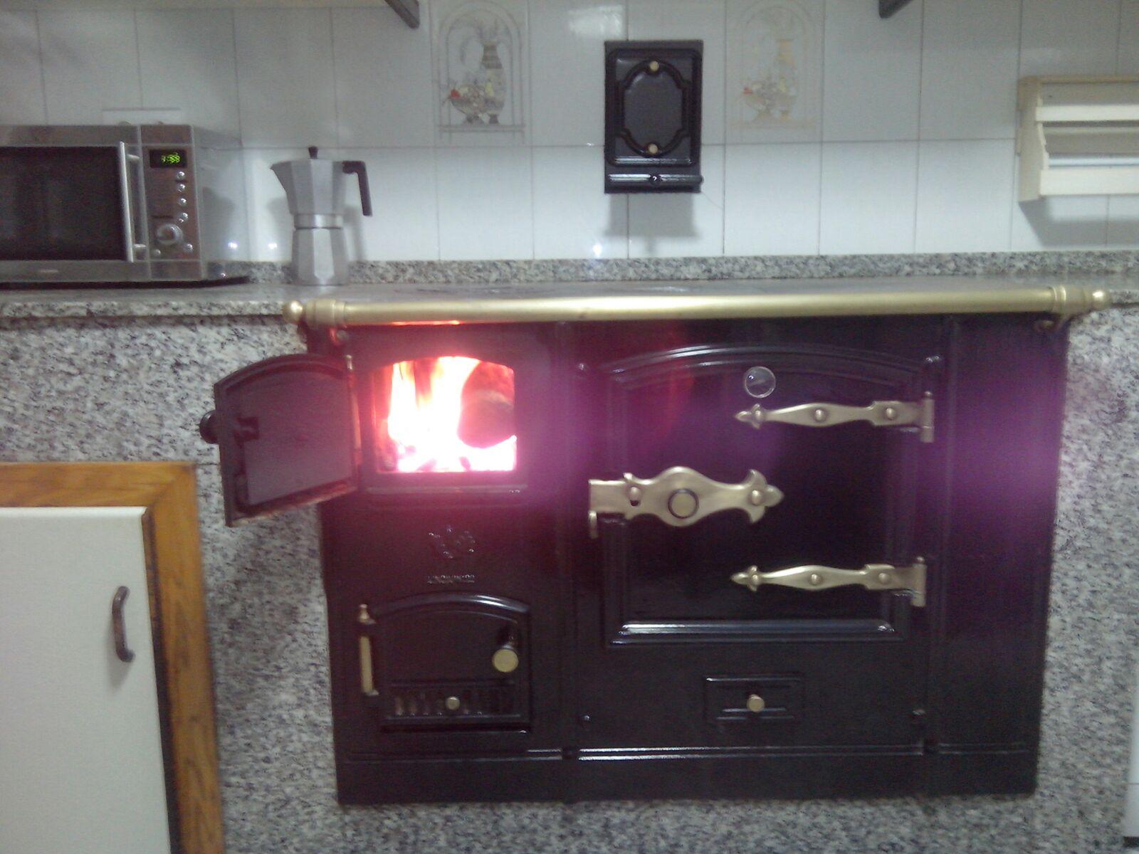 cocina leña y cocina normal