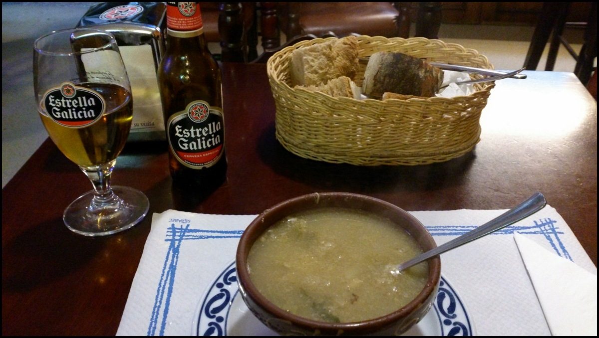 Comida típica en Santiago