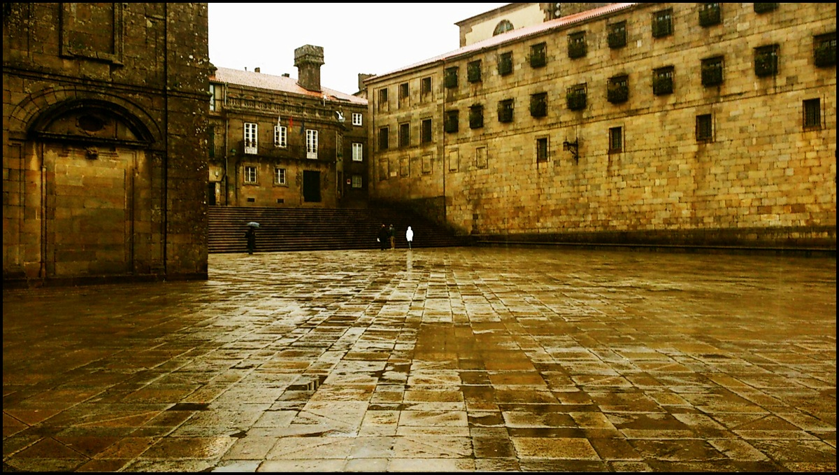 Plaza da Quintana - Santiago es bonito con lluvia.