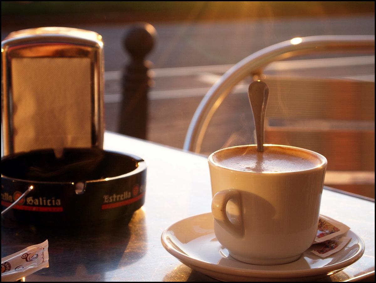 Café en el jardín