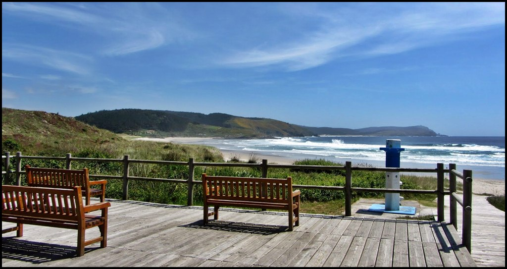 Vista en Playa de Nemiña