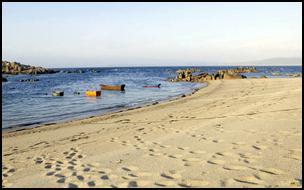 Playa de Lobeiras en Arou