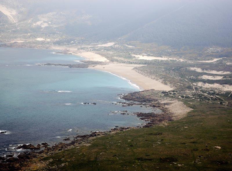 """Foto Aérea de Trece"""" title=""""Playa do Trece en Camariñas"""